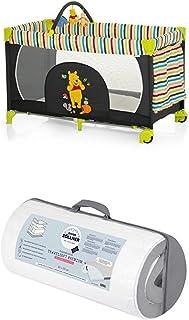 Reisepaket Hauck Kinderreisebett Dream N Play Go Disney, schwarz-bunt und Julius Zöllner Reisebettmatratze Travelsoft Premium, 60 x 120 cm