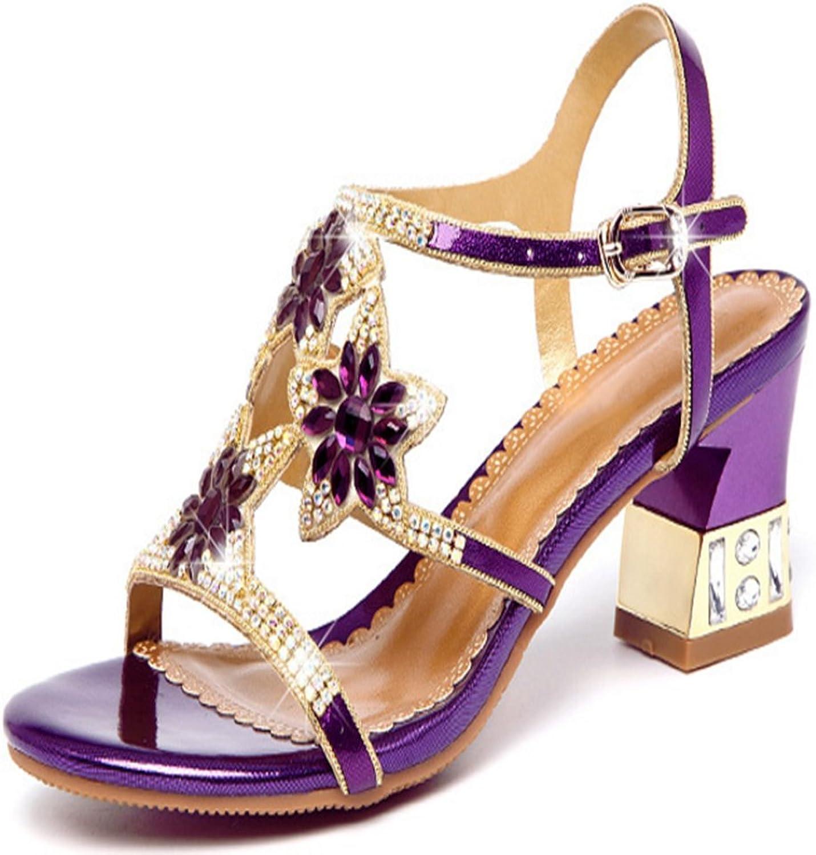 T-JULY Womens Ladies Fashion Dermis Platform High Heel Sandals Luxury Sparkly Bling Diamonds Slides Wedding Party shoes