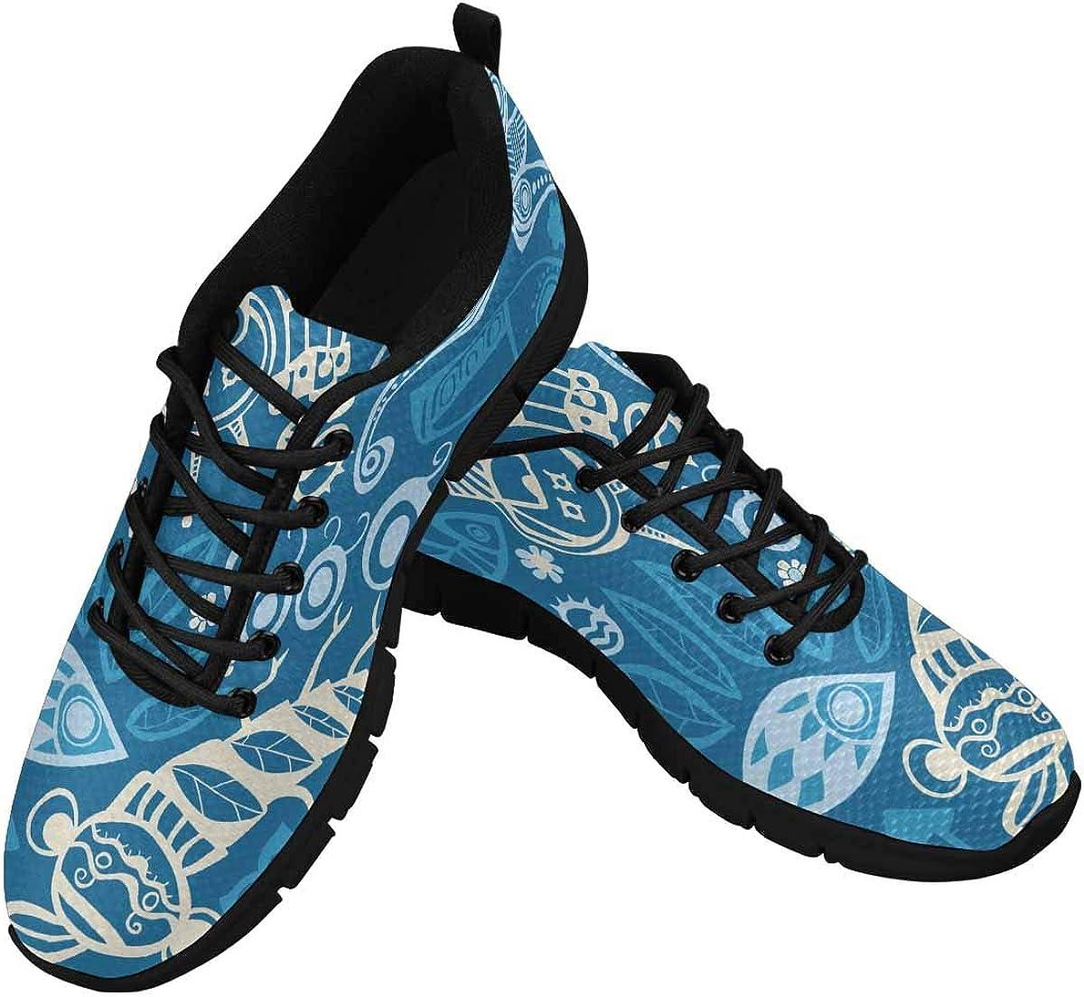 INTERESTPRINT Abstract Pattern Winter Women Walking Shoes Comfortable Lightweight Work Casual Travel Sneakers