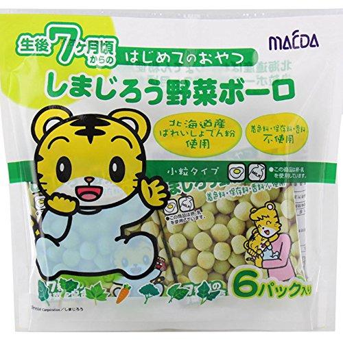 『大阪前田製菓 6Pしまじろう野菜ボーロ 12g×6×10袋』のトップ画像