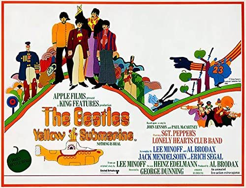 the beatles yellow submarine 1968 movie poster