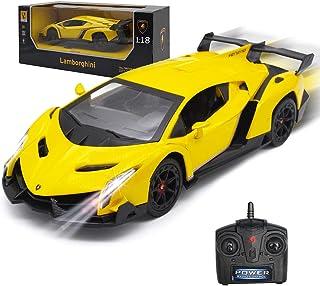 GUOKAIRemoteControlRCCarsRacingCar1:18LicensedToyRCCarCompatible with Lamborghini ModelVehicleforBoys6,7,8YearsOld,Yellow
