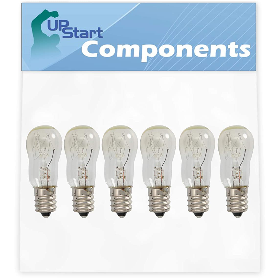 6-Pack WE05X20431 Dryer Light Bulb Replacement for General Electric DDE7608 Dryer - Compatible with WE4M305 Dryer Drum Light Bulb