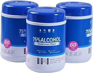 75% 高濃度 アルコール ウェットティッシュ ボトルタイプ 99.99%除菌 60枚入り×3個セット 不織布シート 日常 消毒