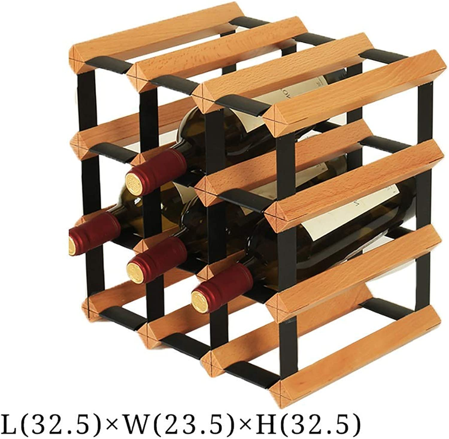 Red Wine Shelf Wine Rack Wine Rack Display Stand European Style Solid Wood Creative Multi-Layer Decoration Decoration (color   B) (color   E)