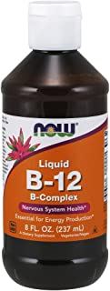 NOW Supplements, Vitamin B-12 Complex Liquid, Energy Production*, Nervous System Health*, 8-Ounce
