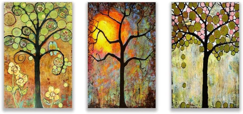 xwwnzdq Nordic Four Season Lucky Painting Bird Canvas Life Indianapolis Quantity limited Mall Tree