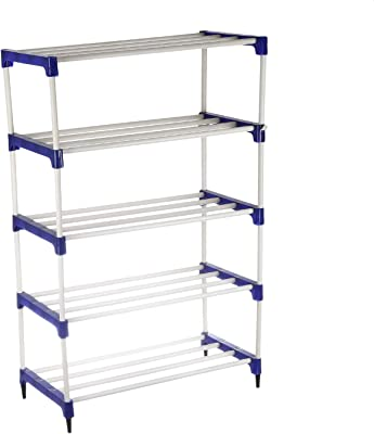 NHR PVC Plastic Shoe Rack/Shoe Storage/Shoe Cabinet with 5 Shelves