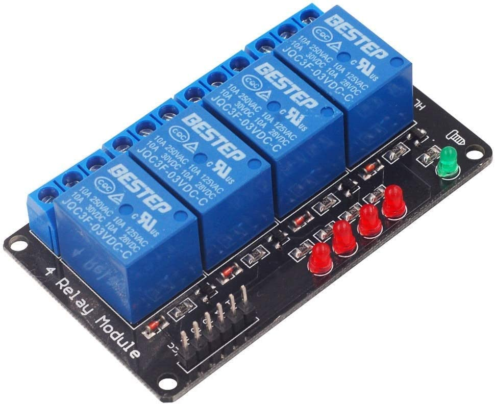 JKCKHA BESTEP 4 Relay Module Board Steue 3V Low High order Illuminated Spot New color