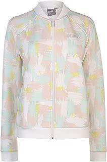Puma AOP Bomber Jacket Womens White/Yellow Coats Outerwear