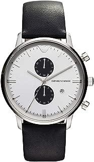 Armani Classic Chronograph Leather - Black Men's Watch #AR0385