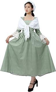 فستان روليكوز بايونير برايري الاستعمارية سيفيل وور ريانتمنت مع شال للنساء