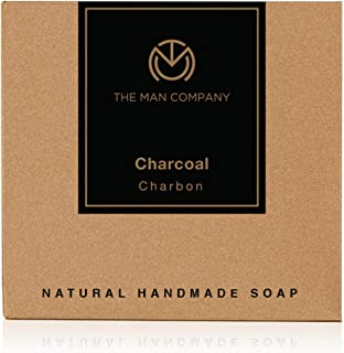 The Man Company Activated Charcoal Natural Hand Made Soap   Tan & Dead Skin Remover - 125gms