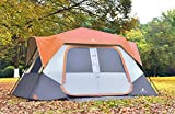 ALPHA CAMP 8 Person Instant Tent for Camping Easy Setup Cabin Tent with Foot Mud - 10' x 9' Orange