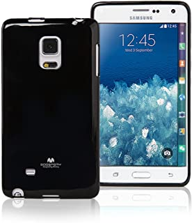 Goospery Pearl Jelly for Samsung Galaxy Note Edge Case (2014) Slim Thin Rubber Case (Black) NT4E-JEL-BLK