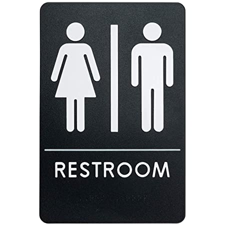 Amazon Com Rock Ridge Unisex Restroom Sign Ada Compliant Bathroom Door Sign For Offices Businesses And Restaurants Made In Usa Office Products