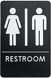 Rock Ridge Unisex Restroom Sign ADA-Compliant Bathroom Door Sign for Offices, Businesses, and Restaurants, Made in USA