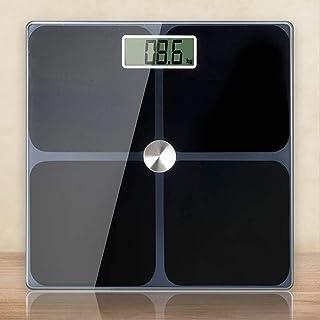Digital Body Weight Scale Electronic Bathroom Scale Anti-slip Base -Black