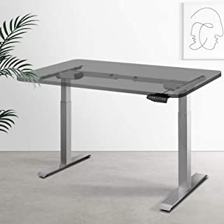 Artiss Motorised Height Adjustable Standing Desk Frame Electric Dual Motors Quiet Operation Home Office Workstation Table ...