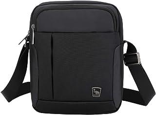 Bolso Bandolera Hombre Pequeña Negra Bolsa de Viaje Mariconeras para Hombres Messenger Bag Cruzada Impermeable para Ocio Vacaciones Excursión Caminata y Senderismo