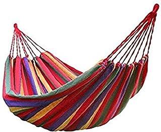 BeiLan Acampar Hamaca de Lona a Rayas balanceo Cama portátil al Aire Libre con Mochila de Viaje jardín Patio Playa Yard Ocio hamacas Ultraligero con Bolsa 190 * 150cm
