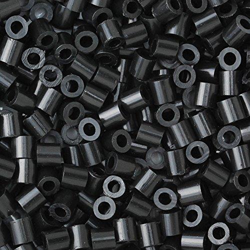 Rosebeading - Cuentas de plástico para niños, cuentas de 5 mm, 800 unidades, negro