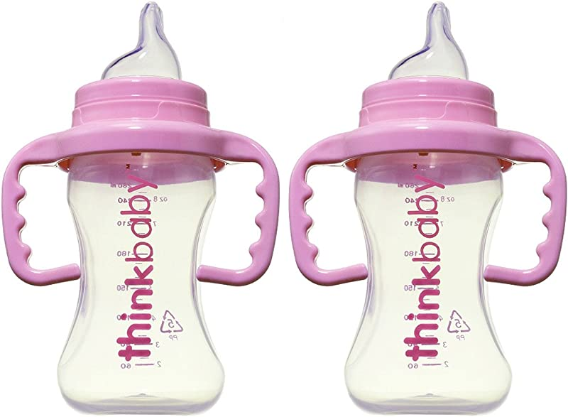 Thinkbaby BPA Free No Spill Sippy Cup 2 Pack Pink