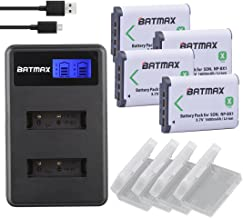 Batmax 4Packs NP-BX1 Battery (1600mAh) and LCD Dual USB Charger for Sony NP BX1/M8, Cyber-shot DSC-HX80, RX1, RX1R, RX100, RX1RII, H400, HX300, HX50V, HX90V, WX300, WX350, HDR-AS10 Cameras