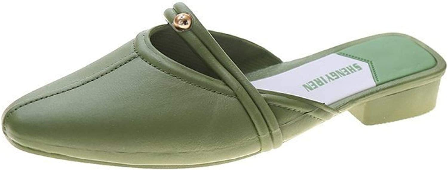 Memphis Mall ChyJoey Open-Back and Ease-Going Mules Low Women for Hee Fashion Popular overseas