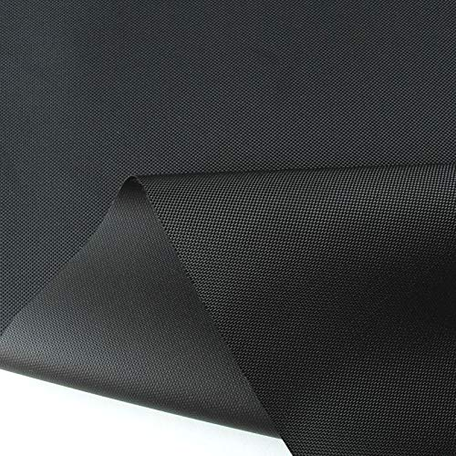TOLKO wasserfester beschichteter Outdoor Stoff - Nylon Segeltuch/Fester Planenstoff als Meterware | Extra Schwer, Reißfest und Langlebig | 150cm breit (Schwarz)