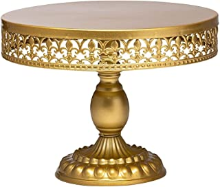 """Cake Stands Round Cupcake Stands Metal Dessert Display Cake Stand, 18K Gold, 12"""" (036 cake stand - 12in)"""