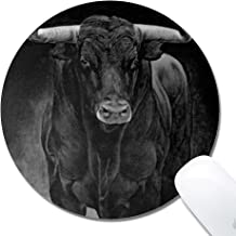 DeJYtrade Mouse Pad, Bull Custom Non-Slip Gaming Mousepad (Round 8x8x0.12 inch)