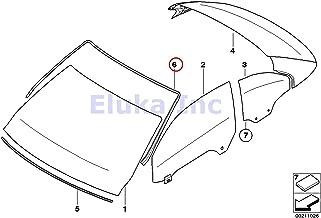 BMW Genuine Exterior Trim Grill Seals Windshield Moulding Front Upper 328i 335i M3 328i 335i 335is M3