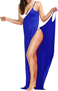 Choies Women's Spaghetti Strap Backless Beach Dress/Plus Size Bikini Wrap Swimsuit Cover Up