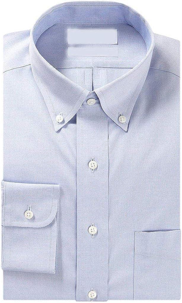 Cremieux Non Iron Classic Fit Button Down Solid Dress Shirt Y45DH006 Blue