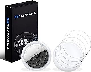 「8枚」TALENANA For AirTag フィルム 保護フィルム TPU素材 表面用/背面用 4枚組 24時間自動修復技術 衝撃吸収 傷防止 アクセサリー シール 透明