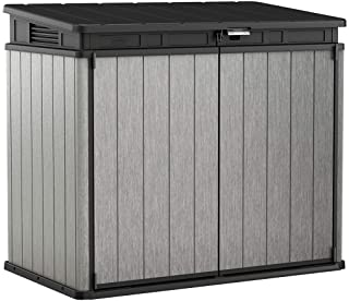 Keter Elite Store 4.6 x 2.7 Foot Resin Outdoor Storage Shed with Easy Lift Hinges, Perfect for Trash Cans, Yard Tools, and...