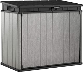 Keter 237831 Elite Outdoor Storage Shed, Grey/Black
