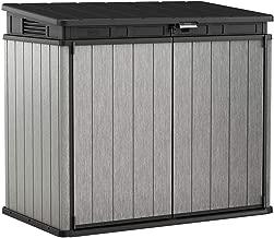 Keter 237831 Elite Outdoor Storage Shed, Grey/Black