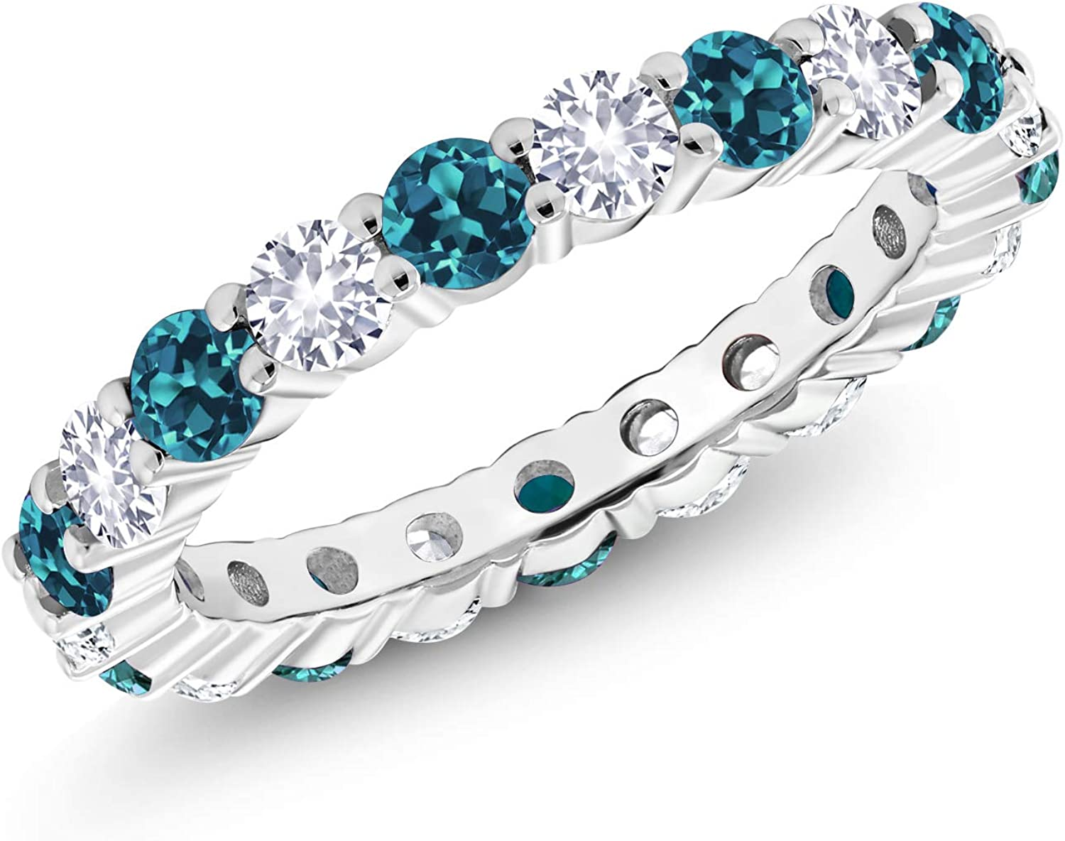Gem Stone King 925 High quality Sterling Silver Gorgeous Topaz and Blue London C White