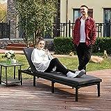 Sonnenliege Liegestuhl Gartenliege mit 5 cm Dicker Auflage Polyrattan Rückenlehne verstellbar - 2