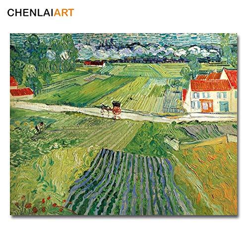 Van Gogh beroemde canvas schilderkunst landschap bij Auvers na regen poster wandschilderijen voor woonkamer poster en prints muurkunst 40x50cm