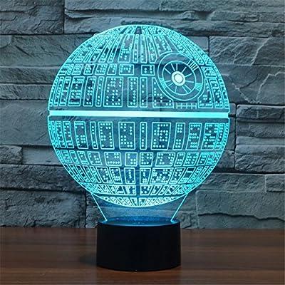 3D Illusion Platform Night Lighting Touch Botton 7 Color Change Decor LED Lamp by Threetoo