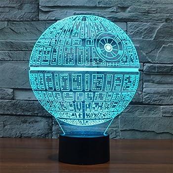 3D Illusion Platform Night Lighting Touch Botton 7 Color Change Decor LED Lamp