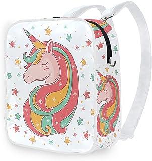 DEZIRO - Mochila de hombro con diseño de unicornio brillante