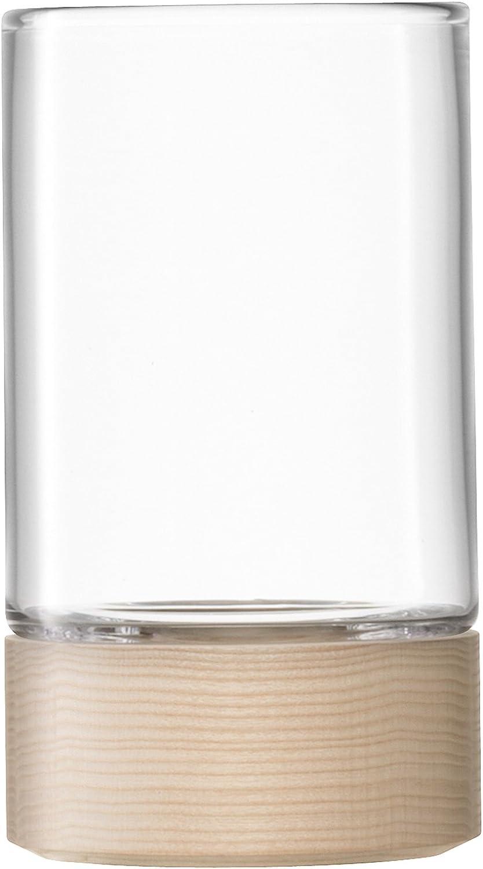 Lotta Wunderschöne Deko Vase Windlicht LSA H23cm Esche, transparent B00IQ71X1E