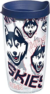 Tervis UConn Huskies All Over Tumbler with Wrap and Navy Lid 16oz, Clear