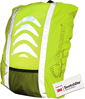 Salzmann 3M Reflective Backpack Cover | High Visibility, Waterproof & Weatherproof | Ideal for Cycling, Running, Hiking & More