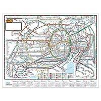 壁掛カレンダー【2021年 1月始まり】東京近郊路線図 CK-103