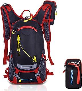 Mochila de bicicleta Mochilas de bicicleta ultraligeras de 18L Mochila de senderismo al aire libre Mochila de esquí para ciclismo Montañismo con protección contra la lluvia y cubierta del casco (rojo)